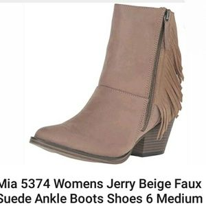 FLASH SALE MIA Tan fringe booties ankle boots